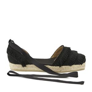 Castaner Women's Phoebe Tassel Espadrille Sandals - Black