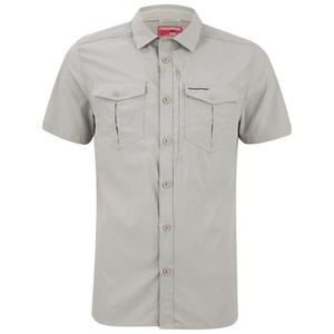 Craghoppers Men's Nosilife Adventure Short Sleeve Shirt - Parchment