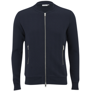 J.Lindeberg Men's Zipped Sweatshirt - Navy