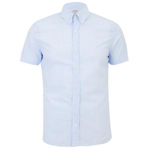 J.Lindeberg Men's Short Sleeve Shirt - Light Blue