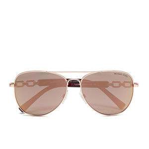 MICHAEL MICHAEL KORS Women's Fiji Glam Chain Link Sunglasses - Rose Gold