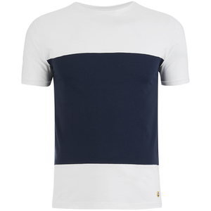 Armor Lux Men's Panelled T-Shirt - Milk/Navy