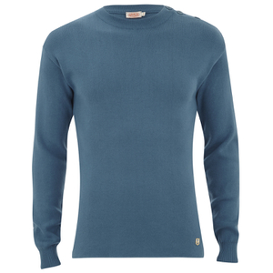 Armor Lux Men's Button Detail Knitted Jumper - Beetle