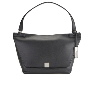 Calvin Klein Women's Kate Medium Pebbled Leather Shoulder Bag - Black