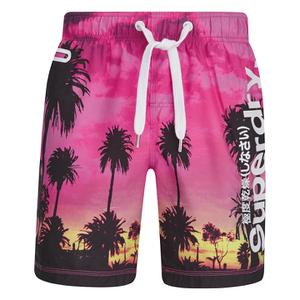 Superdry Men's Premium Print Neo Swim Shorts - Miami Palms