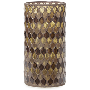 Bark & Blossom Bronze Mosaic Hurricane Glass