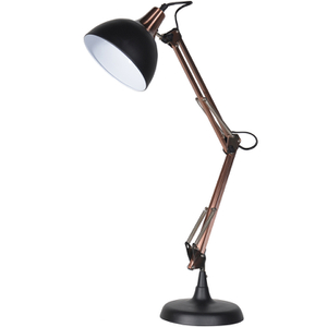 Bark & Blossom Copper and Black Desk Lamp