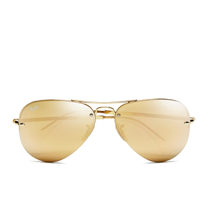 Ray-Ban Men's Aviator Sunglasses - Gold