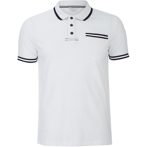 Jack & Jones Men's Core Zet Tipped Polo Shirt - White