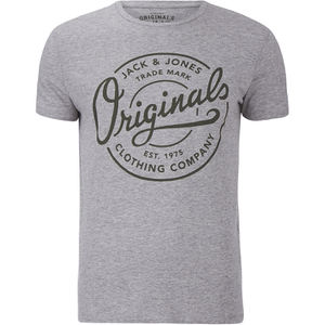 Jack & Jones Men's Originals New Tone T-Shirt - Light Grey Melange