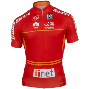 Santini Tour Down Under Sprinters Short Sleeve Jersey 2016 - Red