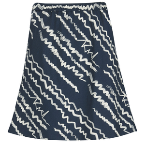 Karl Lagerfeld Women's Jacquard Scribble Skirt - Blue