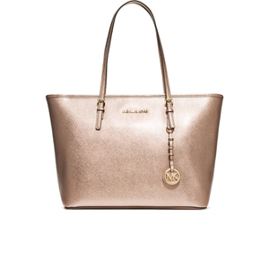 MICHAEL MICHAEL KORS Women's Jet Set Travel Top Zip Tote Bag - Pale Gold