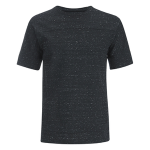 Helmut Lang Men's Tweed Ottoman Short Sleeved Sweatshirt - Black Heather