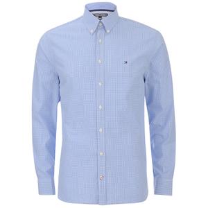 Tommy Hilfiger Men's Devan Poplin Long Sleeved Shirt - Blue