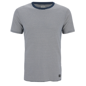Edwin Men's Engineered Fine Rib Striped T-Shirt - Navy/ White
