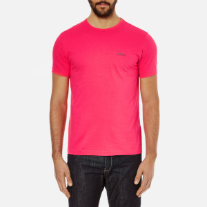BOSS Green Men's Small Logo T-Shirt - Pink