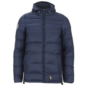 Crosshatch Men's Quilted Rabble Jacket - Iris Navy