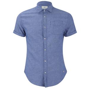 Scotch & Soda Men's Short Sleeved Shirt - Cobalt