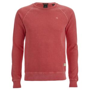 Scotch & Soda Men's Garment Dyed Sweatshirt - Blazing Red
