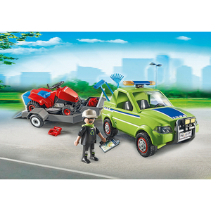 Playmobil City Action Landscaper with Lawn Mower (6111)