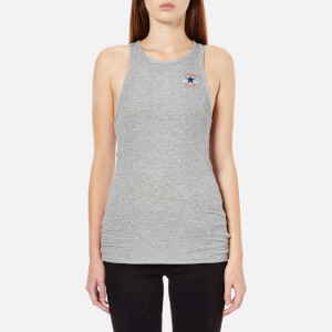 Converse Women's High Neck Tank Top - Vintage Grey Heather