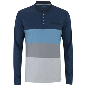 Primal Long Sleeve Henley - Blue