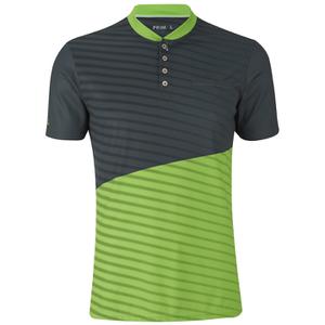 Primal Boundary Short Sleeve Henley - Black/Green