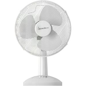 Signature S115N Desk Fan - White - 9 Inch