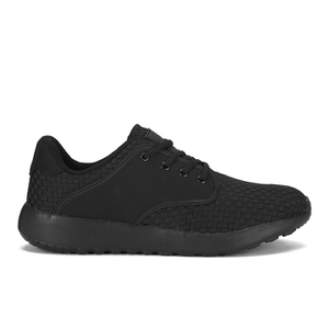 Crosshatch Men's Runner Suede Side Panel Trainers - Black