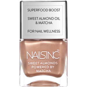 nails inc. Powered by Matcha Mayfair Market Sweet Almond Nail Varnish 14ml