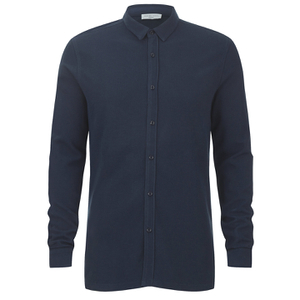 Selected Homme Men's Union Long Sleeve Shirt - Dark Sapphire
