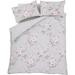 Catherine Lansfield Canterbury Bedding Set - Grey