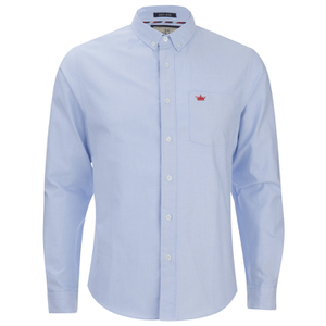 Brave Soul Men's Pompeii Long Sleeve Shirt - Light Blue