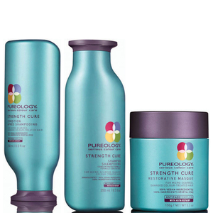 Pureology Strength Cure Shampoing, apres-shampoing, masque restaurateur
