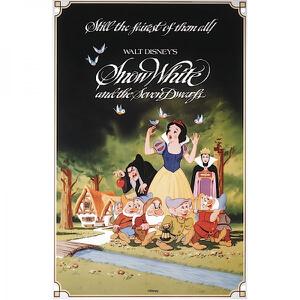 Disney Film Posters Snow White Large Tin Sign