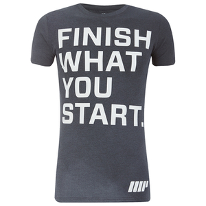 Camiseta Performance Slogan Myprotein para Hombre – Gris Carbón