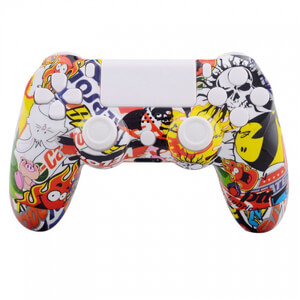 PlayStation DualShock 4 Custom Controller - Stickerbomb White