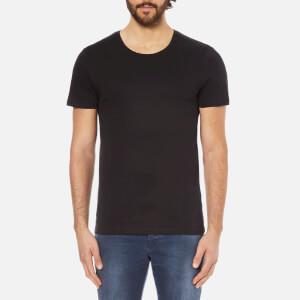 Selected Homme Men's Dave Pima Short Sleeve Cotton T-Shirt - Black