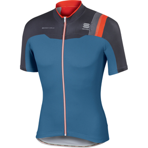 Sportful BodyFit Pro Team Short Sleeve Jersey - Blue/Grey/Red