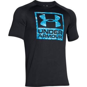Under Armour Men's Tech Boxed Logo T-Shirt - Black