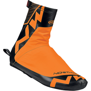 Northwave Acqua Summer Shoe Covers - Orange Fluo/Black
