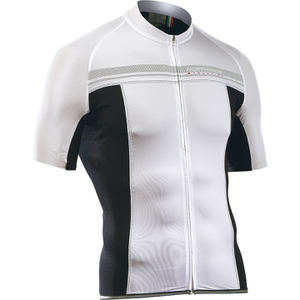 Northwave Evolution Full Zip Short Sleeve Jersey - White/Black
