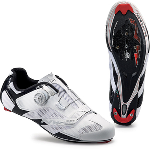 Northwave Men's Sonic 2 Carbon Cycling Shoes - White/Black