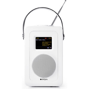 Steljes Audio SA60 Bluetooth DAB+ Portable Wi-Fi Radio (DAB/DAB+/FM) - Matte White