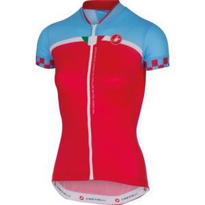 Castelli Women's Duello Short Sleeve Jersey - Red