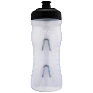 Fabric Cageless Water Bottle (600ml) - Clear/Black