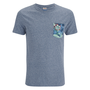 Jack & Jones Men's Originals Bobby Pocket Print T-Shirt - Poseidon