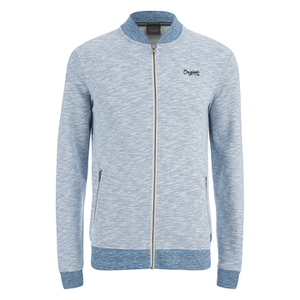 Jack & Jones Men's Originals Lock Baseball Zip Through Sweatshirt - Poseidon