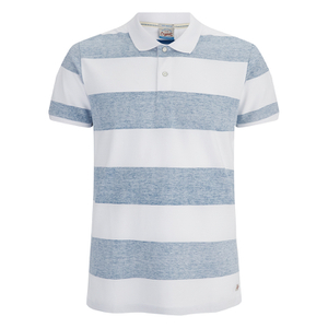 Jack & Jones Men's Originals Micks Polo Shirt - Mykonos Blue/White